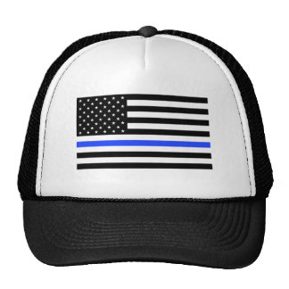 Thin Blue Line Flag Trucker Hat