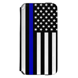 Thin Blue Line.flag USA iPhone 6/6s Wallet Case