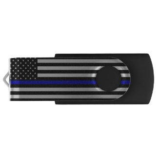 Thin Blue Line Flag USB Flash Drive