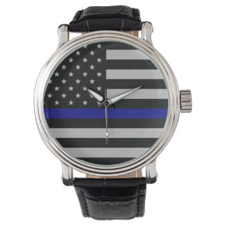 Thin Blue Line Flag Watch