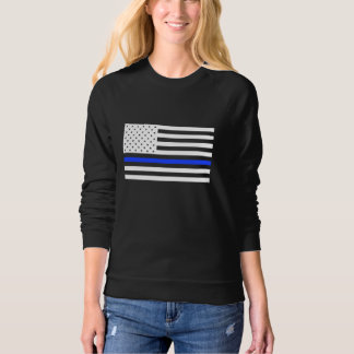 Thin Blue Line Flag women's sweater