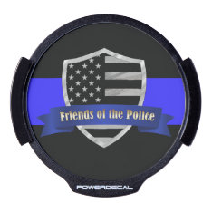 Thin Blue Line Friends Of The Police Led Window Decal at Zazzle