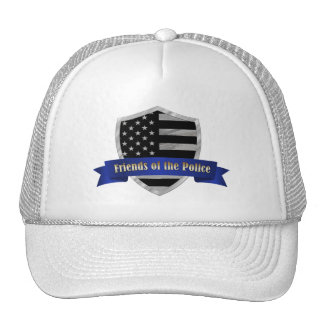 Thin Blue Line Friends of the Police Shield Trucker Hat