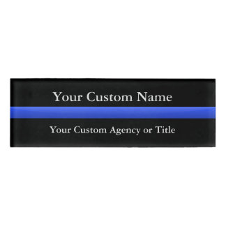 Thin Blue Line Gradient Name Tag
