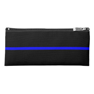 Thin Blue Line graphic on a Pencil Case