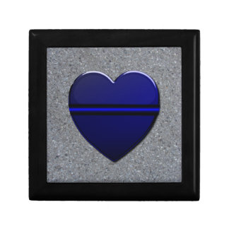 Thin Blue Line Heart Gift Box