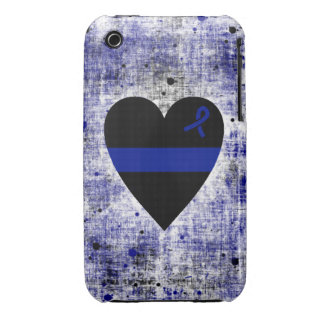 Thin Blue Line Heart iPhone 3 Cases