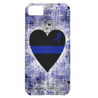 Thin Blue Line Heart iPhone 5C Case