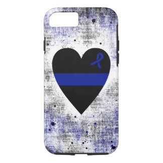 Thin Blue Line Heart iPhone 7 Case
