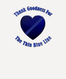 Thin Blue Line Heart Shirt