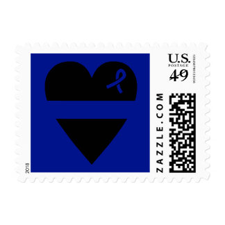 Thin Blue Line Heart Stamp