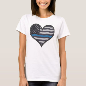 Thin Blue Line Heart T-Shirt