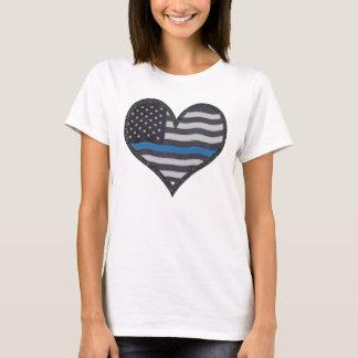 Thin Blue Line Heart T-Shirt