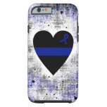 Thin Blue Line Heart Tough iPhone 6 Case