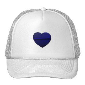 Thin Blue Line Heart Trucker Hat