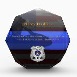 """Thin Blue Line - Hedrick Custom Retirement Plaque<br><div class=""""desc"""">Customize this beautiful gift with your own text to suit the circumstances. This original Police 20 Yr Award Plaque badge artwork was designed specifically for law enforcement officers. It makes a wonderful gift for all of the usual gift occasions but also in acknowledgement of personal achievement, recognition, promotion or retirement....</div>"""
