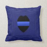 Thin Blue Line - Interchangeable Throw Pillow