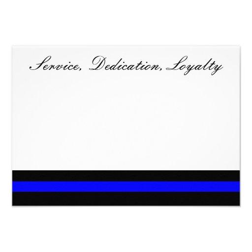 Thin blue line invitation