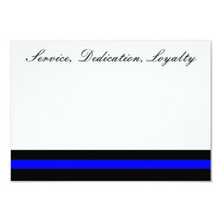 Thin blue line invitation