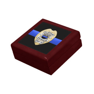 Thin Blue Line Jewelry Box