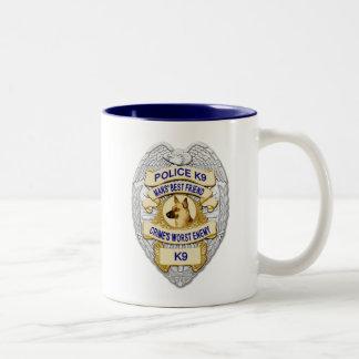 Thin Blue Line K9 Badge Two-Tone Coffee Mug