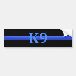 Thin Blue Line & K9 Bumper Sticker
