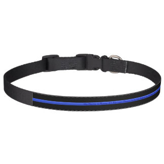 Thin Blue Line K-9 Collar - Lost and Found Message Dog Collars