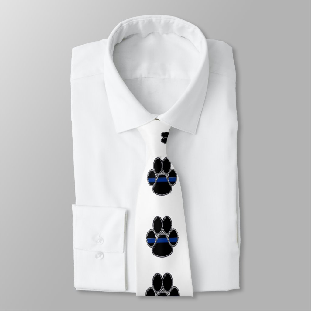 Thin Blue Line K-9 Neck Tie