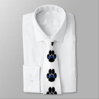 Thin Blue Line K-9 Neck Tie