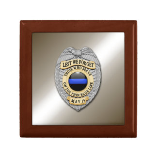Thin Blue Line Keepsake Box