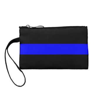 Thin Blue Line Key Coin Clutch