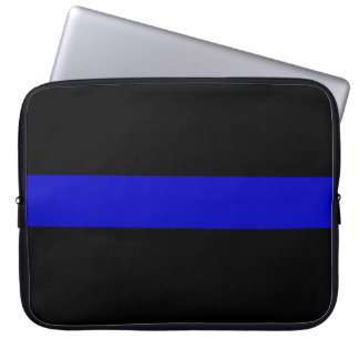 Thin Blue Line Laptop Sleeves