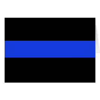 Thin Blue Line Law Enforcement Greeting Cards