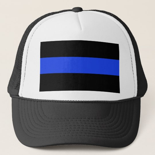 Thin Blue Line Law Enforcement Trucker Hat