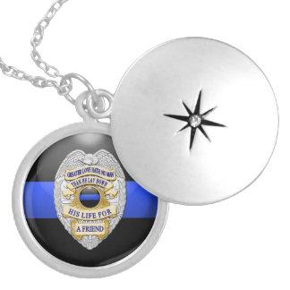 Thin Blue Line & Lest We Forget Badge Pendants