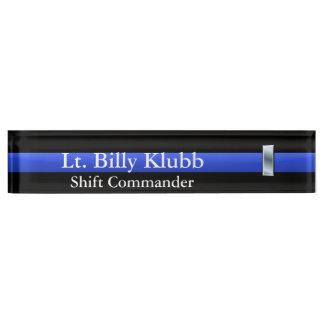 Thin Blue Line - Lieutenant Rank Desk Name Plate