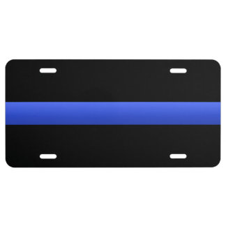 Thin Blue Line License Plate