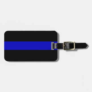 Thin Blue Line Luggage Tag