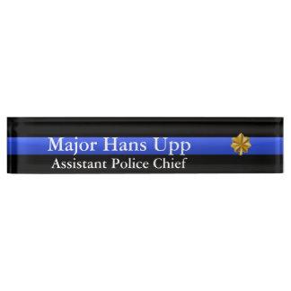Thin Blue Line - Major Cluster Rank Desk Name Plate