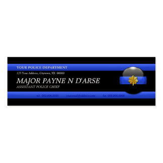 Thin Blue Line Major Custom Business Card