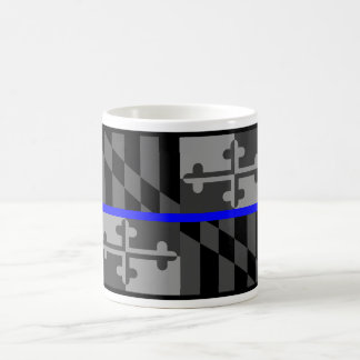 THIN BLUE LINE MARYLAND STATE FLAG COFFEE MUG