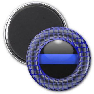 Thin Blue Line Medallion 2 Inch Round Magnet