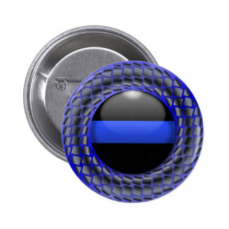 Thin Blue Line Medallion Button