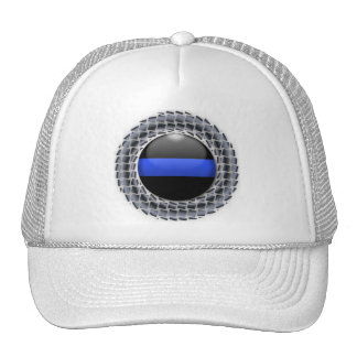 Thin Blue Line Medallion Trucker Hat