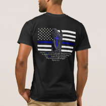 Thin Blue Line Michael the Archangel T-Shirt