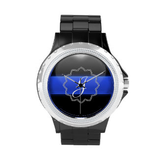 Thin Blue Line - Monogram Wrist Watch