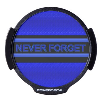 Thin Blue Line - Never Forget Led Car Decal by DimeStore at Zazzle