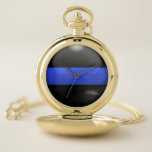 "Thin Blue Line Never Forget Pocket Watch<br><div class=""desc"">This Thin Blue Line design makes a fantastic promotion, tenure, achievement or retirement gift! At the end of the first work day you&#39;ll wonder why you only bought ONE of these because everybody in your department will want one of their very own. This is an original design and you can...</div>"