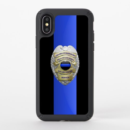Thin Blue Line- No Greater Love Badge Phone Case
