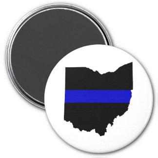 Thin Blue Line Ohio Magnet